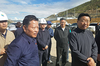 Ding Yexian Visits Jiama Copper-Polymetallic Mine